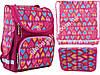 """Набор рюкзак ортопедический каркасный + сумка для обуви + пенал «Smart» PG-11 """"Hearts Style"""" 555920-1"""