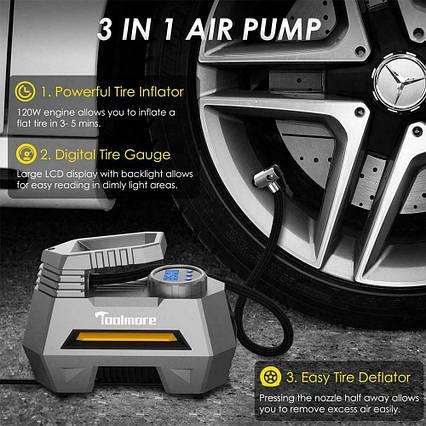 IMars CZK-3631 портативный 150PSI 12V Mini авто шиномонтажный воздушный насос с цифровым дисплеем, фото 2