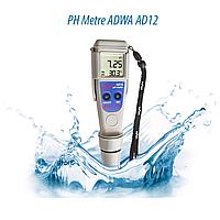 Влагозащищённый РН-метр ADWA AD12 (РН от -2,00 до 16,00; РН ± 0.01 pH) АТС, автоматическая калибровка. Венгрия