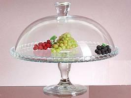 Блюдо для торта на ножке с крышкой Pasabahce Patisserie 95200 - 32см
