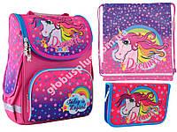 """Набор рюкзак ортопедический каркасный + сумка для обуви + пенал «Smart» PG-11 """"Unicorn"""" 555902-1, фото 1"""