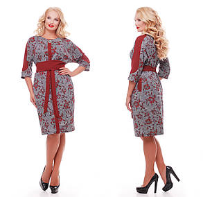 Красивое платье   Кэтлин бордо розы Размеры  52, 54, 56, 58., фото 2