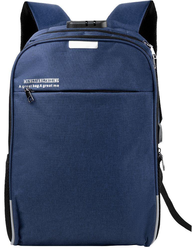 Рюкзак унисекс ETERNO DET822-6 на 14л  из ткани, синий