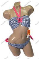 Купальник раздельный бикини с пуш ап - сине-розовый, сине-голубой - 14143, фото 1