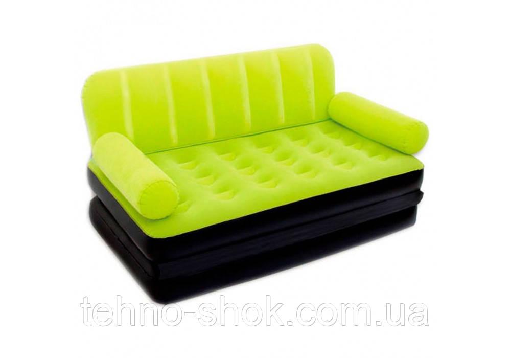 Надувной диван-трансформер 5 в 1 Bestway 193х152х64 см (67356) зеленый