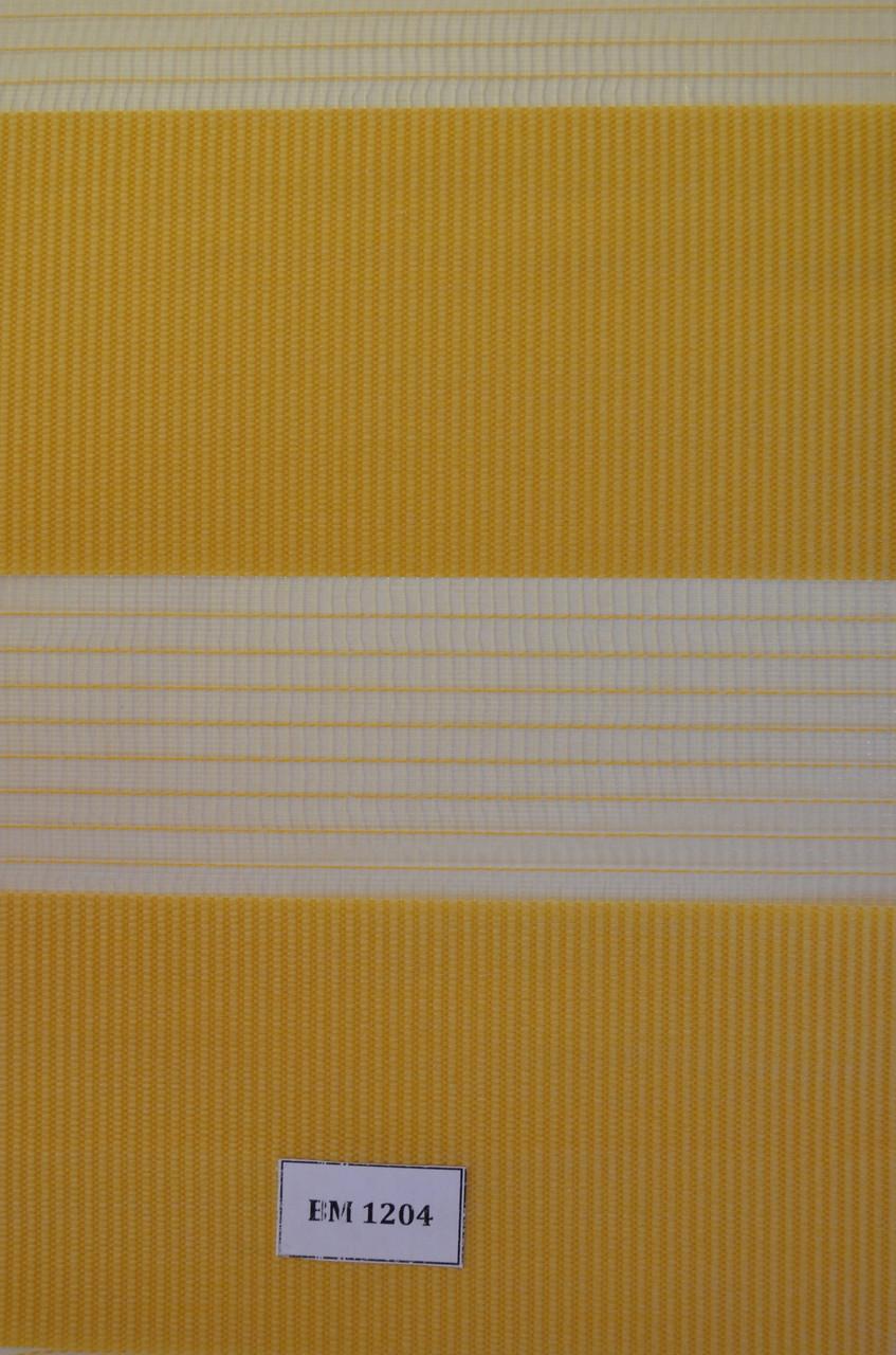 Рулонные шторы день-ночь желтые ВМ-1204
