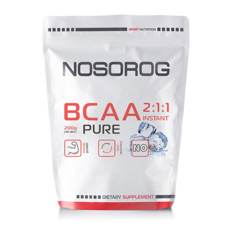 Аминокислота Бцаа Носорог / Nosorog Nutrition BCAA 2:1:1 200 г без вкуса