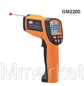 Пирометр Benetech GM2200 (от 200 до 2200 ℃; EMS 0,1-1,0), ПО, Кейс (80:1)