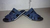 Сандалии, шлепанцы мужские летние на липучке Adidas (Синий), фото 1