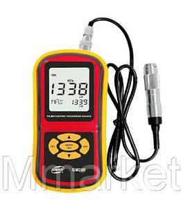 Толщиномер лакокрасочных покрытий Benetech GM280 (от 0 мкм до 1800 мкм) NFe с выносным датчиком