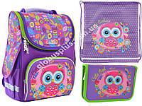 """Набор рюкзак ортопедический каркасный + сумка для обуви + пенал «Smart» PG-11 """"Little Owl"""" 555896-1, фото 1"""
