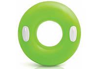 Надувной круг для плавания  INTEX салатовый глянцевый 76см, от 8 лет
