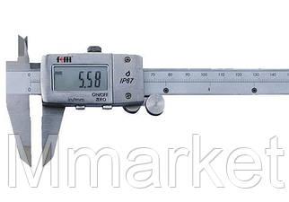 Штангенциркуль электронный KM-DSKW-300 (0-300/0,01 мм) с бегунком, IP67, металлический корпус