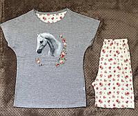 Футболка і шорти для дівчат ріст 158-164