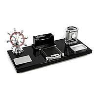 Канцелярский набор для руководителя с часами и штурвалом S6118