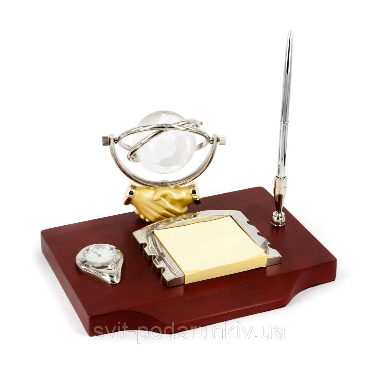 Письменный настольный набор глобус с часами CAS2225