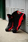 Чоловічі кросівки Nike Air Jordan 13 Black/Red, фото 3