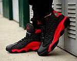 Чоловічі кросівки Nike Air Jordan 13 Black/Red, фото 5