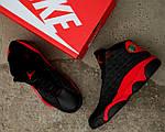 Чоловічі кросівки Nike Air Jordan 13 Black/Red, фото 8