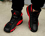 Чоловічі кросівки Nike Air Jordan 13 Black/Red, фото 7