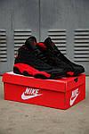 Чоловічі кросівки Nike Air Jordan 13 Black/Red, фото 10