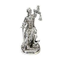 Статуэтка Фемида фигурка богини правосудия с покрытием под серебро PLS0197Y-10.5
