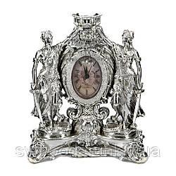 Статуэтка Фемида настольные часы с посеребрением PLS0412N-10