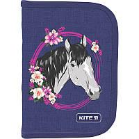 Пенал без наполнение Kite Education Beautiful horse K19-622-9, 1 отделение, 2 отворота