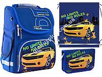 """Набор рюкзак ортопедический каркасный + сумка для обуви + пенал «Smart» PG-11 """"No Limits"""" 555989-1, фото 1"""