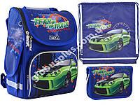 """Набор рюкзак ортопедический каркасный + сумка для обуви + пенал «Smart» PG-11 """"Tear Up The Track"""" 555983-1"""