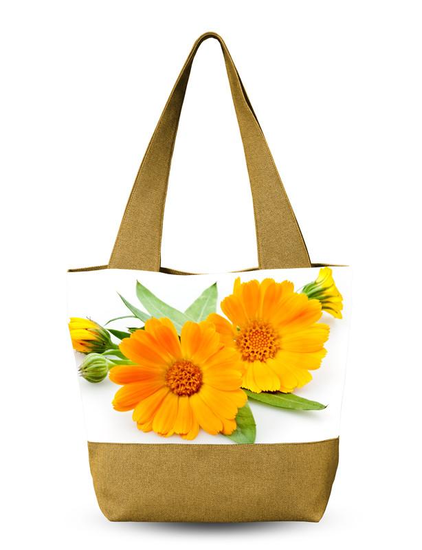 Сумка для лето женская с цветами.