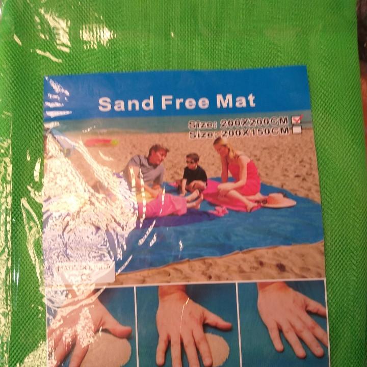Анти-песок пляжная подстилка для моря 200*200 см.
