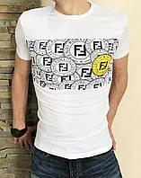 Мужская  футболка с ярким  принтом  (реплика)