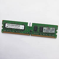 Оперативная память Micron DDR2 2Gb 800MHz PC2 6400U 2R8 CL6 (MT16HTF25664AY) Б/У, фото 1