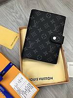 Модный бумажник - органайзер Louis Vuitton серый кожа Качество Ежедневник Новинка 2019 года Луи Виттон реплика, фото 1