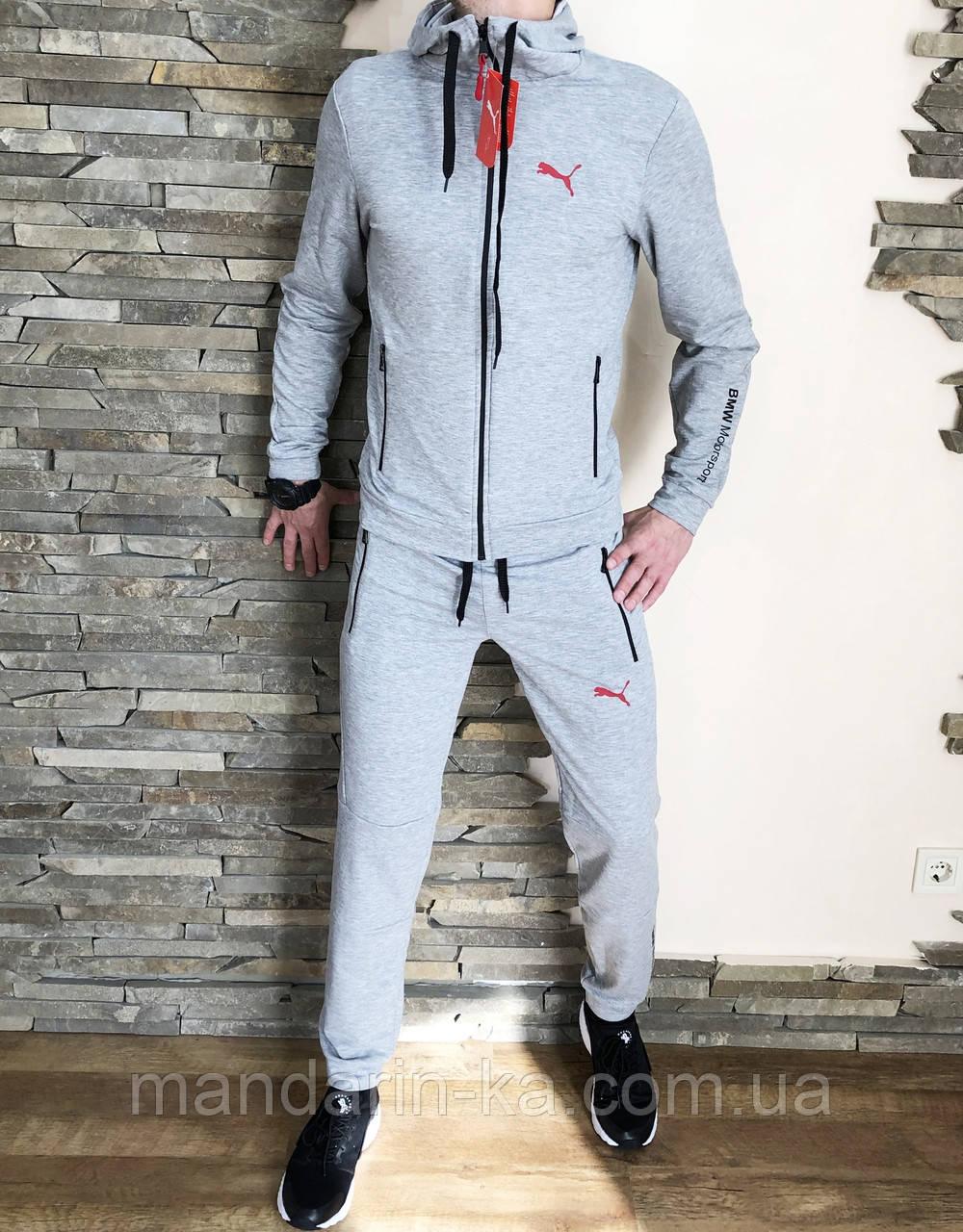 Костюм мужской спортивный серый олимпийка штаны (реплика)