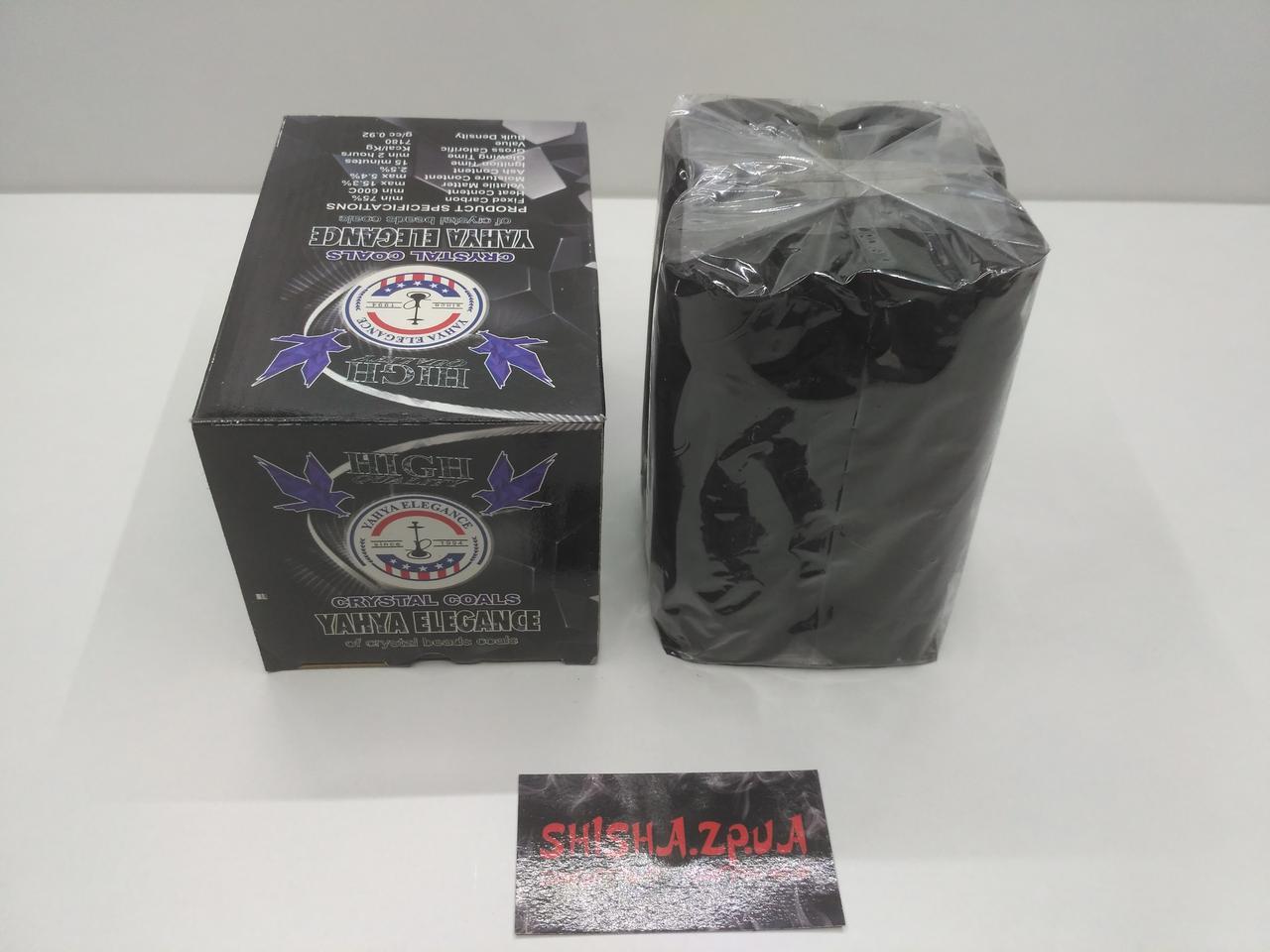 Кокосовый уголь YAHYA ELEGANCE 1кг (72 шт.) Премиум серия.