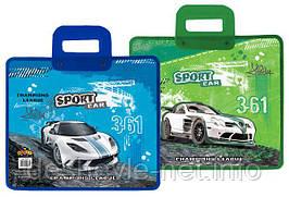 """Папка-портфель """"Sport car"""" пластиковая с пластиковыми ручками"""
