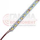 Светодиодная линейка SMD5630 18Вт, 100cм, 12V, холодный белый, крепление скотч, IP20, фото 2