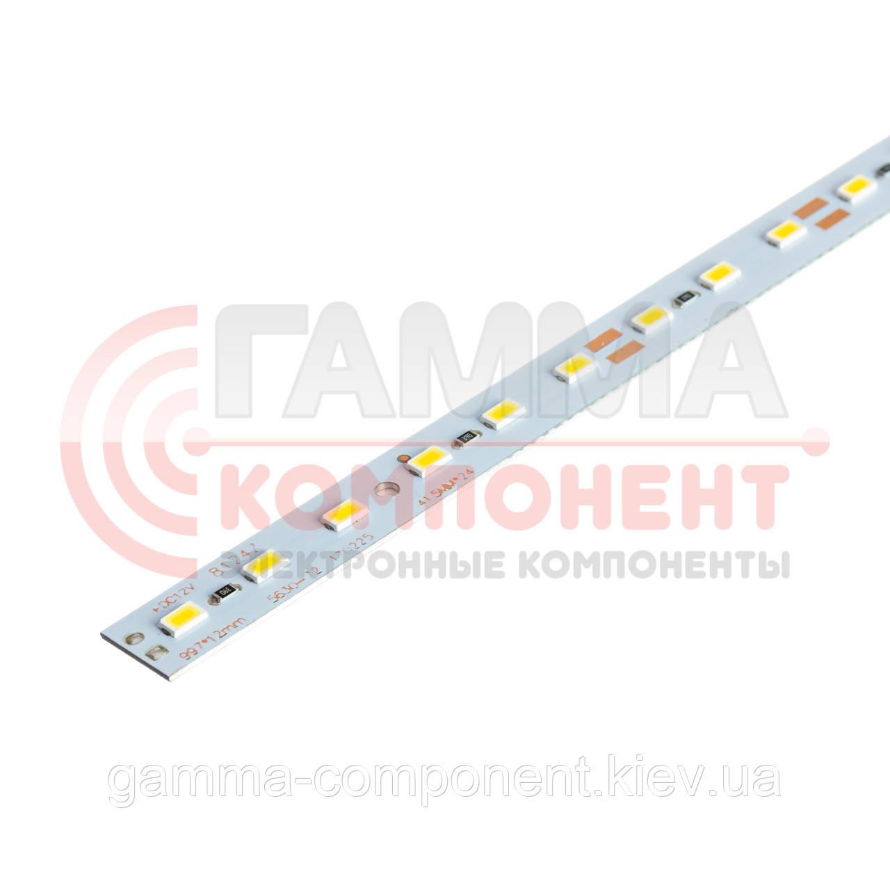 Светодиодная линейка SMD5630 18Вт, 100cм, 12V, холодный белый, крепление скотч, IP20