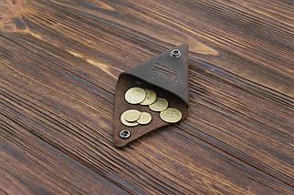 Монетница кожаная ручной работы VOILE темно-коричневая (967048970), фото 2