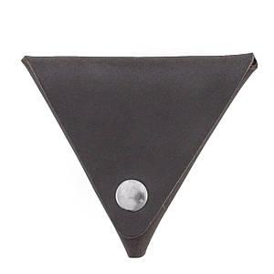 Монетница кожаная ручной работы VOILE темно-коричневая (967048970)