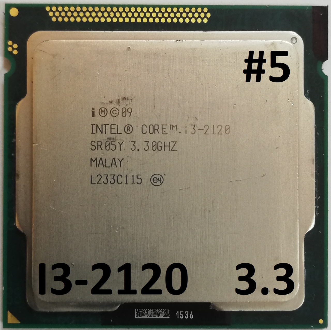 Процессор ЛОТ#5 Intel Core i3-2120 SR05Y 3.3GHz 3M Cache Socket 1155 Б/У
