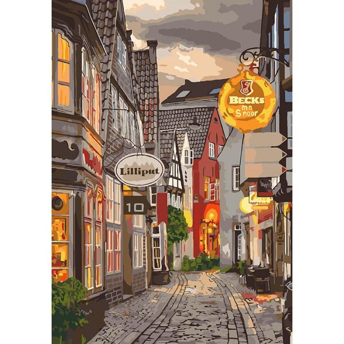 Раскраска по номерам Уютный переулок KH3548 Идейка 35 х 50 см