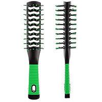 Расческа тунельная массажная для сушки волос (21*3 см 12 шт/уп ) PM-8519 G, фото 1