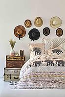 Постельное белье Karaca Home ранфорс Sandy blush полуторное Коллекция 2019