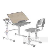 Комплект FunDesk Парта и стул-трансформеры Sorriso Grey