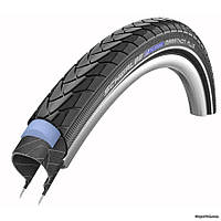 """Покрышка 28"""" х 1,75"""" (47 - 622) Schwalbe Marathon Plus HS440 Performance, черная со светоотражающими полосами"""