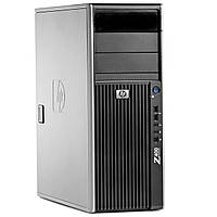 Сервер, Workstation, HP z400, Intel Xeon X3565, 4 ядра, 8 потоков по 3,50 GHz, 8 Гб ОЗУ, HDD 250 Гб