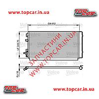 Радиатор кондиционера REnault Megane III 08-  Valeo 814187
